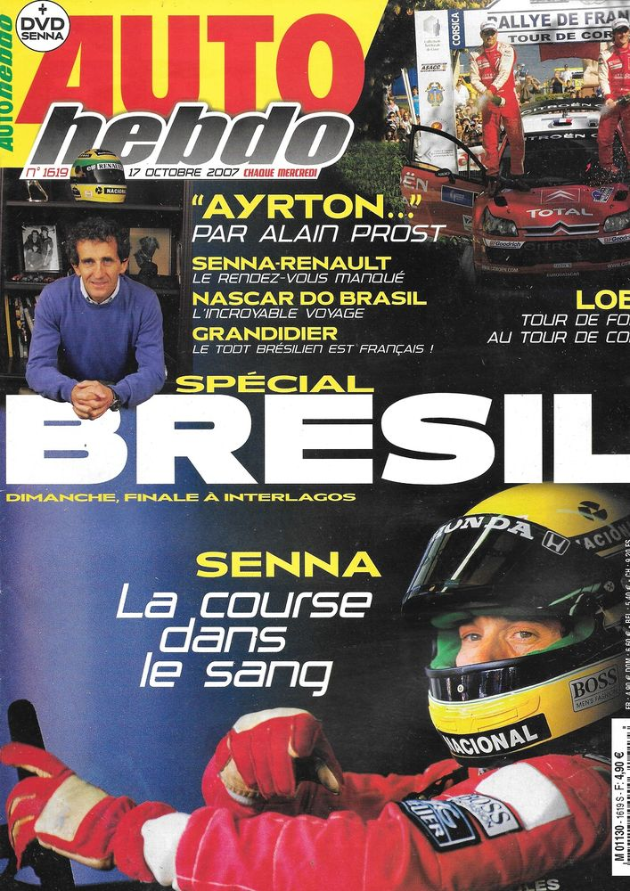 AUTO HEBDO n°1619 2007 Tour de Corse PROST SENNA Livres et BD
