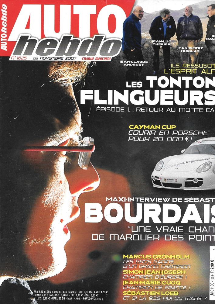 AUTO HEBDO n°1625 2007  MASERATI Quattroporte Sport GTS  2 Castelnau-sur-Gupie (47)