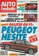 AUTO HEBDO n°562 de 1987  ALFA ROMEO 75 2.0  R25 TX