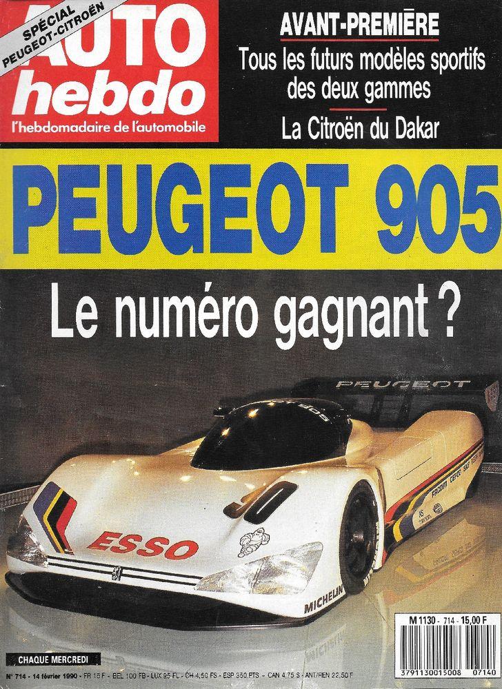 AUTO HEBDO n°714 de 1990 24 Heures Daytona Rétromobile Livres et BD