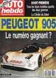 AUTO HEBDO n°714 de 1990  24 Heures Daytona   Rétromobile