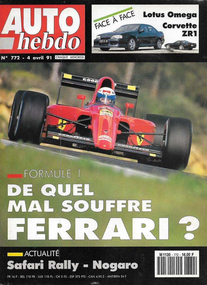 AUTO HEBDO n°772 de 1991 OPEL Lotus Omega Corvette ZR1 Livres et BD