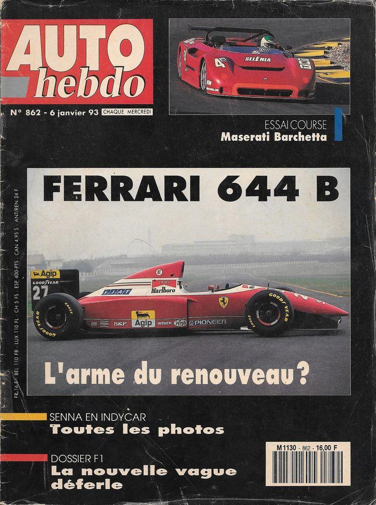 AUTO HEBDO n°862 de 1993 Paris Dakar SENNA THERIER Livres et BD
