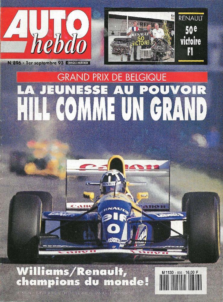 AUTO HEBDO n°896 de 1993 ASTON MARTIN Virage 6.3 1000 Lacs Livres et BD