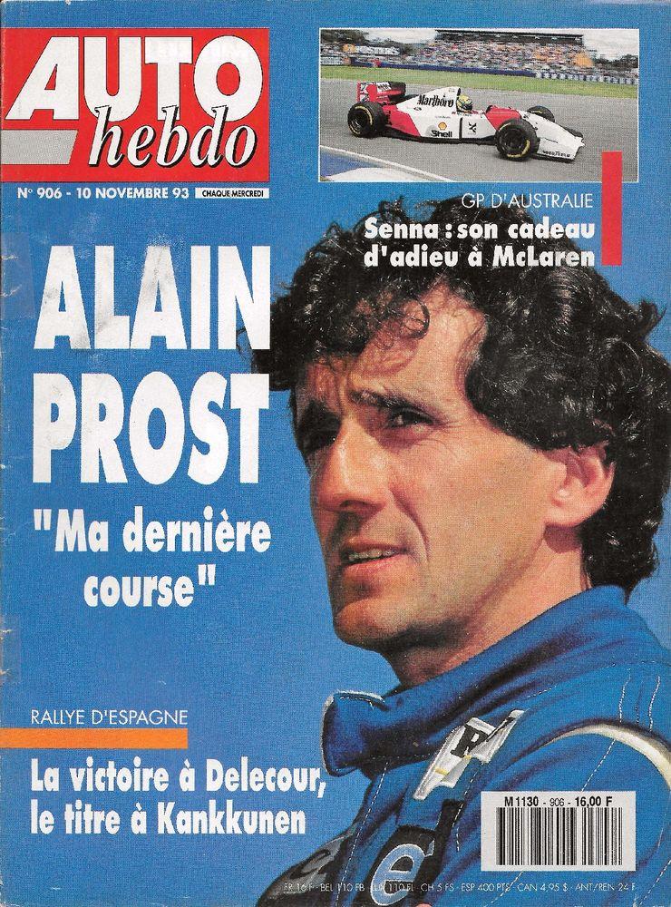 AUTO HEBDO n°906 de 1993 GP Australie Rallye Catalunya Livres et BD