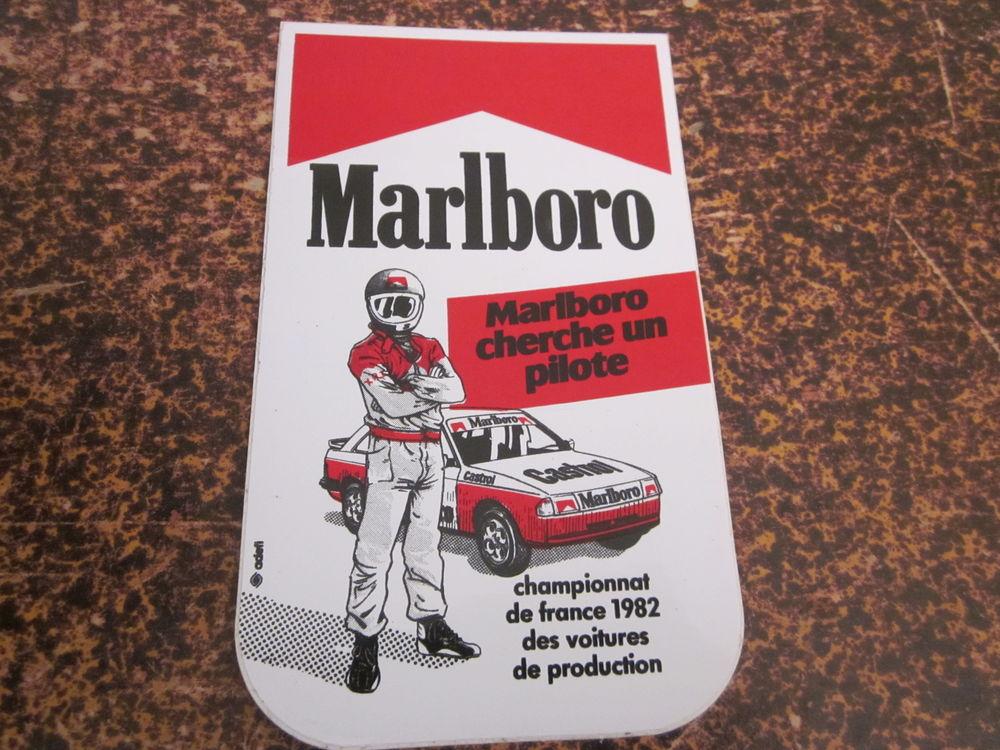 autocollant marlboro cherche un pilote 1982