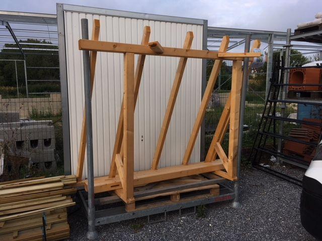Auvent adossé bois 238 cm Bricolage