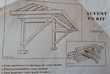 Auvent bois en kit (3 pentes) Bricolage