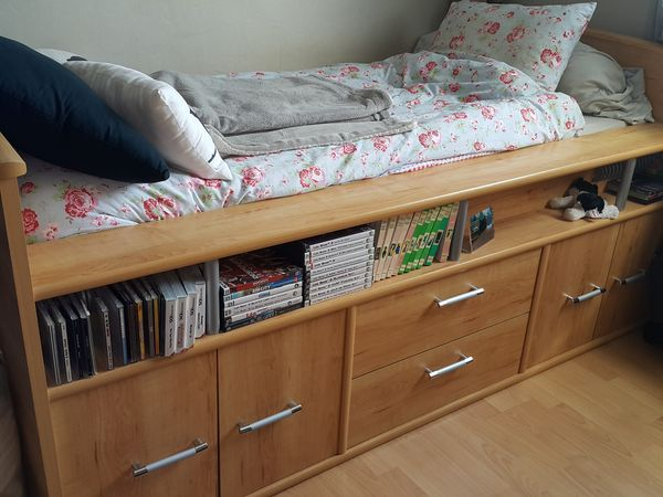 Achetez lit 90 avec bureau occasion annonce vente for Meuble bureau lit