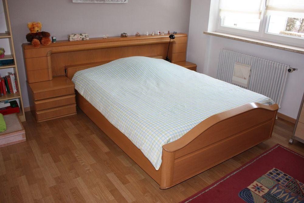 Achetez lit 140 160 avec 2 occasion annonce vente sierentz 68 wb155228260 - Lit avec table de nuit incorporee ...