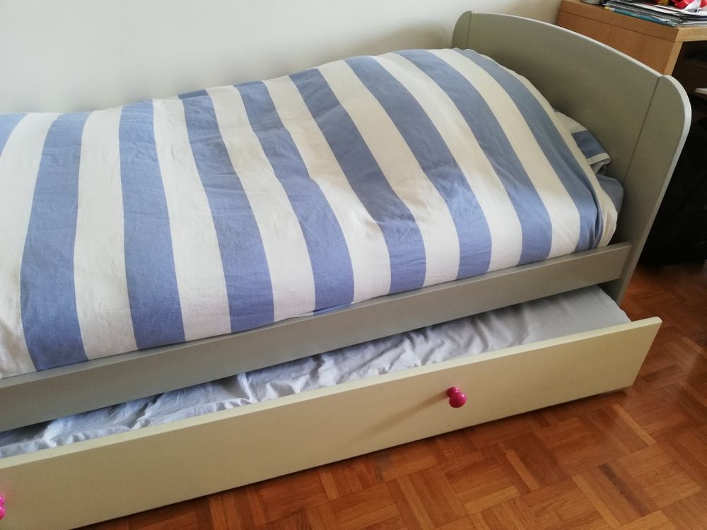 Lit 90*190 avec lit tiroir - chambre enfant 100 Boulogne-Billancourt (92)