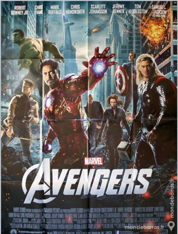 AVENGERS Affiche de Cinéma 120x160 Marvel 60 Maisons-Alfort (94)