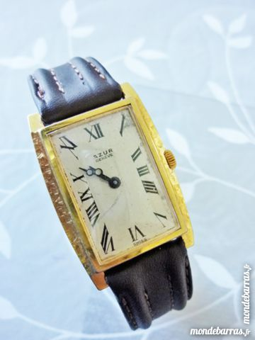AZUR GENEVE montre mécanique plate 1935 MEC0030 Bijoux et montres