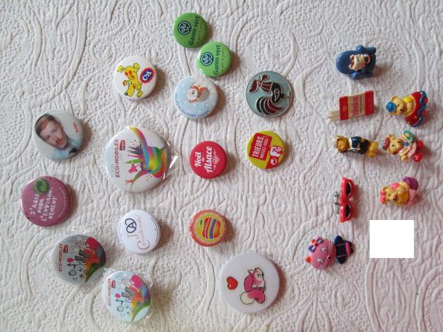 Badges, pins et broches fantaisie