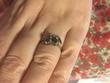 Bague argent saphir vert 56 Bague argent trio de saphir vert Bijoux et montres