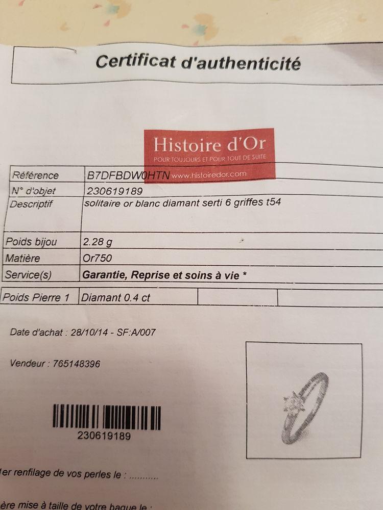Bague or blanc solitaire 700 Saint-Mitre-les-Remparts (13)