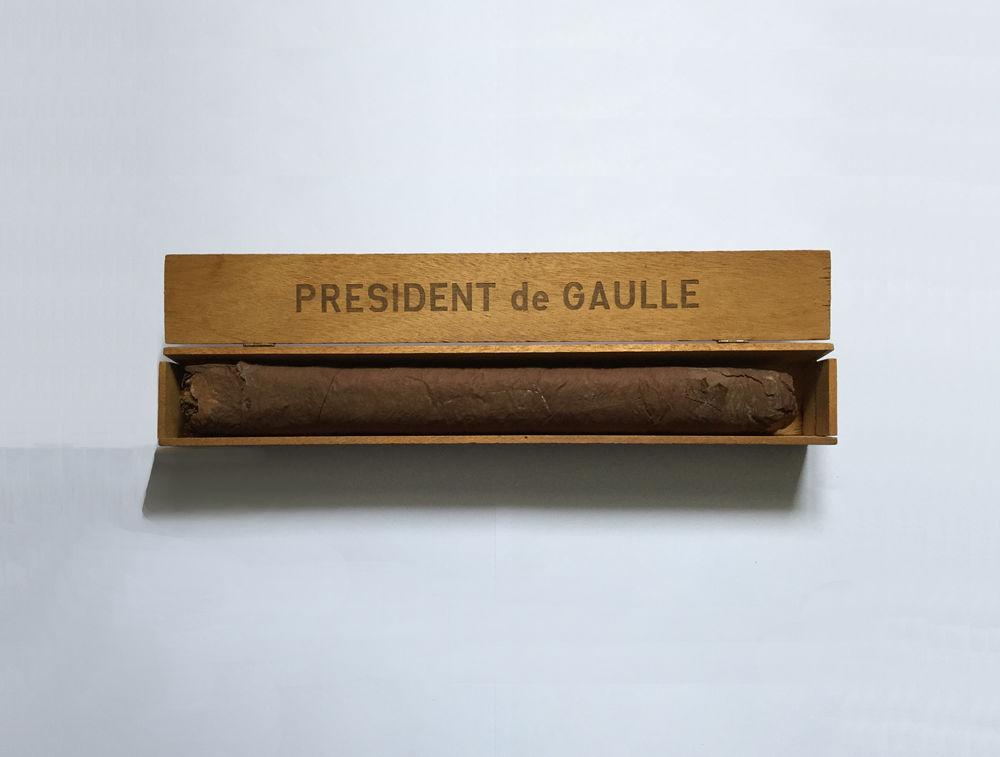 Bague et boîte Cigare PRESIDENT DE GAULLE