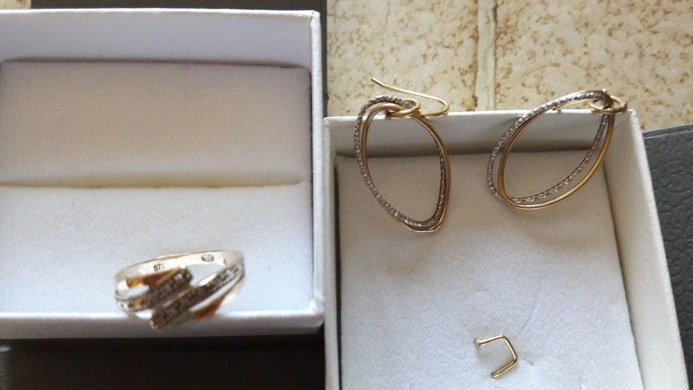 Bague et boucles d'oreilles Or 9 carats et cristaux 200 Aix-en-Provence (13)