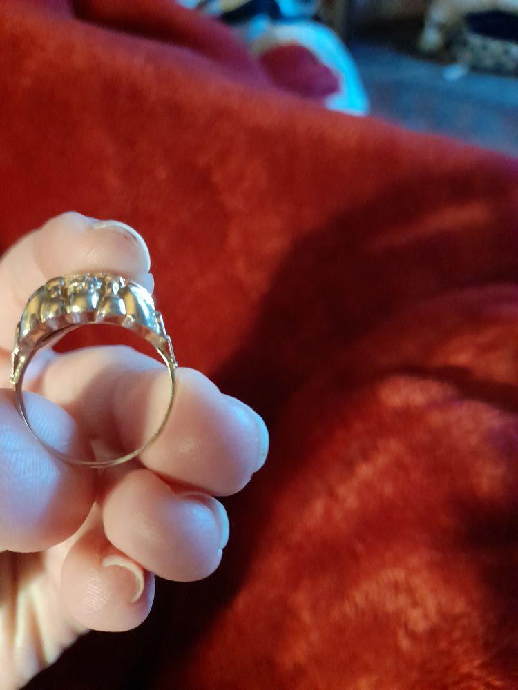 Bague or et diamant style ancien  170 Ciry-le-Noble (71)
