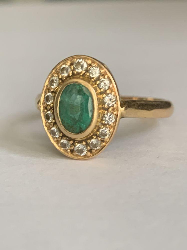 Bague or émeraude et diamants 1400 Martigues (13)