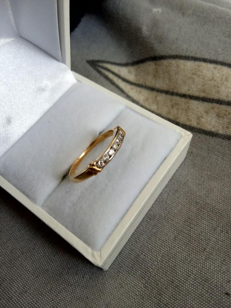 Bague fiançailles Or 18cts  + 7 Diamants.Fact.290€. 290 Quimperlé (29)