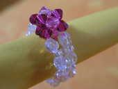 bague perles fleur faite main 5 Auxonne (21)