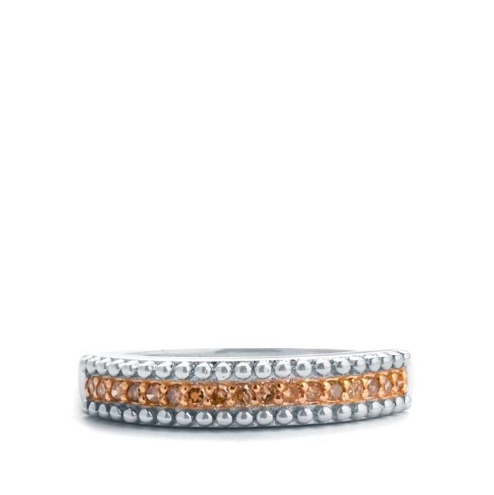 Bague sertie avec diamants jaune (irradiés) 0,15 ct 140 Paris 12 (75)