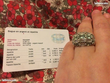 Bague sertie 54 juwelo argent et pierres Bijoux et montres