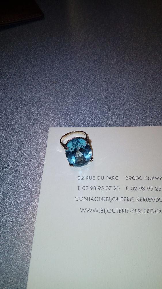 BAGUE EN VERMEIL AVEC TOPAZE 550 Quimper (29)