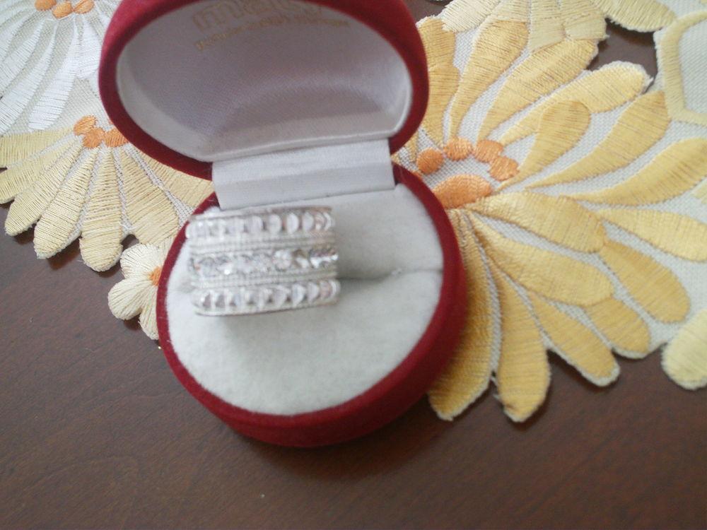 Bagues argentées gros anneaux lot de trois N°1028 20 Beaune (21)