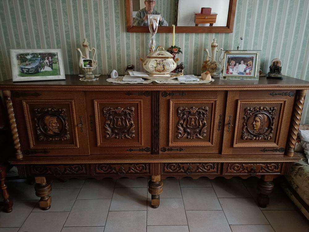 Bahut + table et chaises de S à M en chène + canapé  500 Outreau (62)