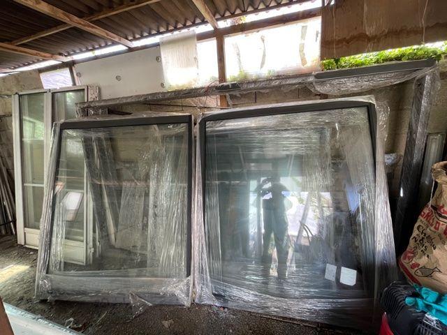 3 Baie vitrée alu gris anthracite dimensions H: 1.70m L: 2.9 1700 Bondy (93)
