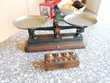 Balance précision plateaux métal et poids en cuivre