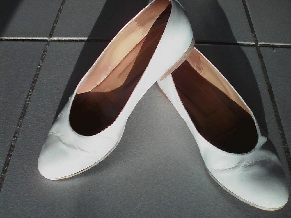 Ballerines / Escarpins Cuir Blanc Femme 36 MIROTON Chaussures
