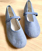 Ballerines toile bleu/gris 38 12 Marcq-en-Barœul (59)