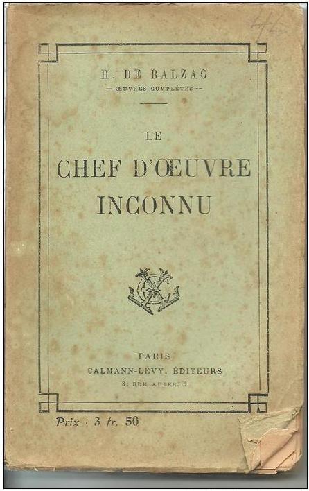 BALZAC Le chef d'oeuvre inconnu - CALMANN-LEVY - 1924 12 Montauban (82)