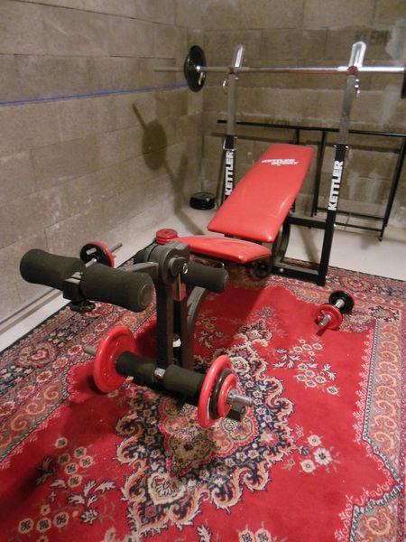 banc de musculation kettler rouge