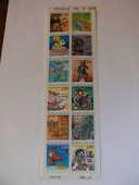 Bande de 12 timbres 8 Plougoumelen (56)