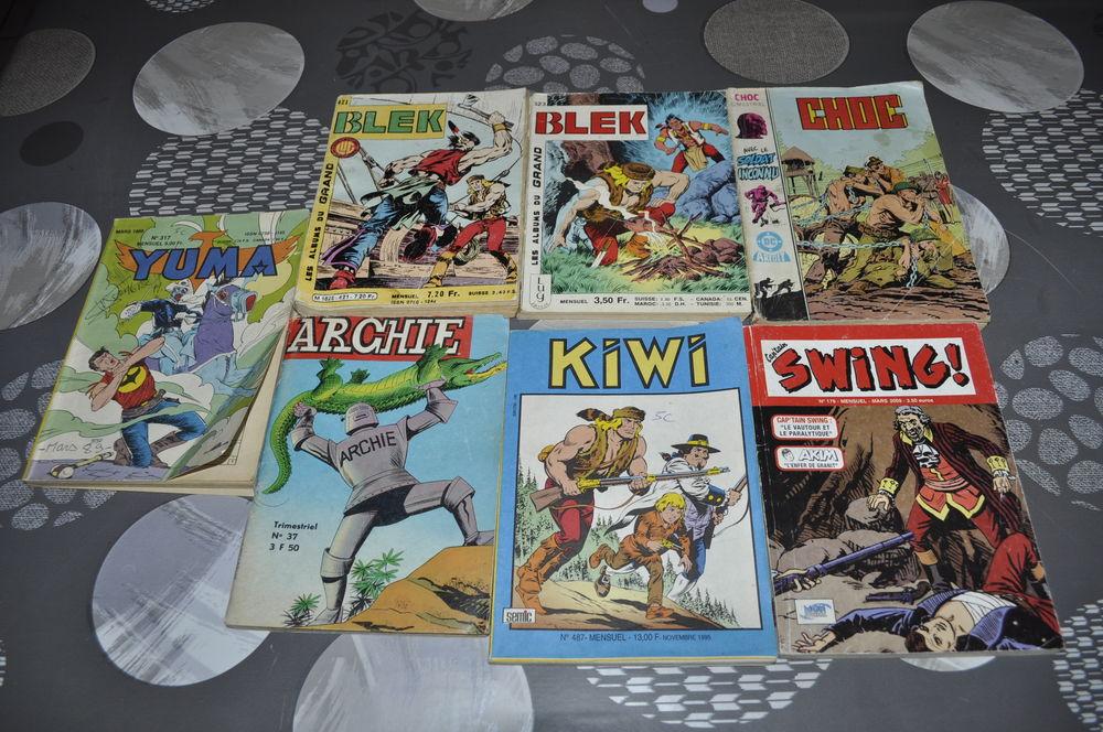 Lot de bandes dessinées avec entre autre Blek Livres et BD