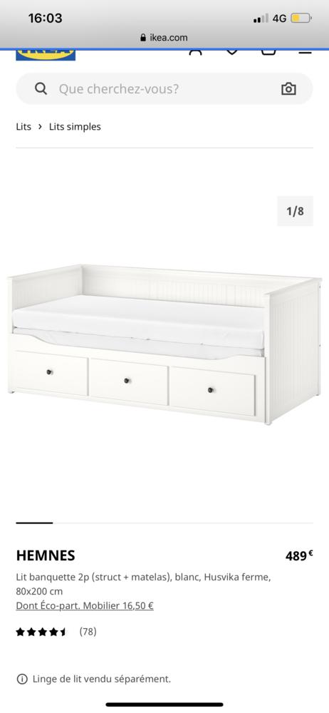 Lit banquette IKEA  300 Marseille 8 (13)