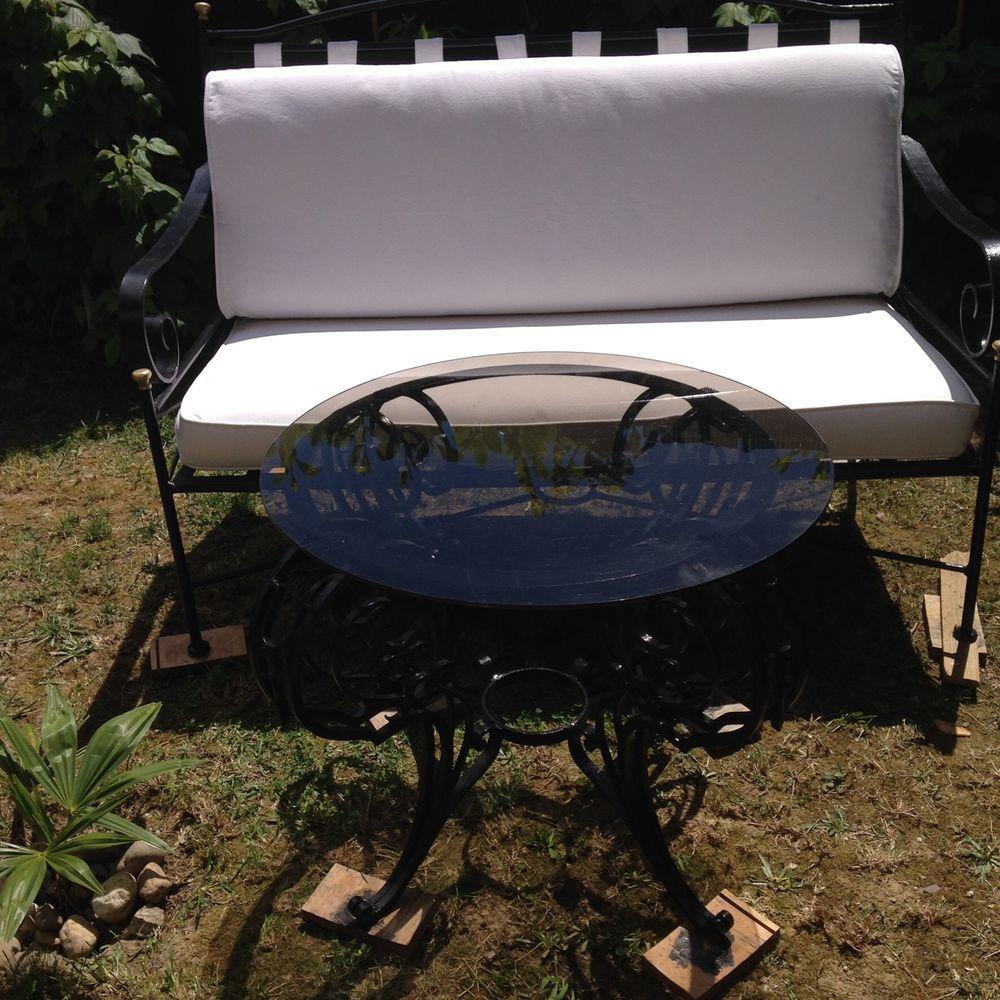 banquette 2/3 places et table étagère Meubles