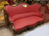 Banquette style Louis Philippe rouge 180 Toulouse (31)