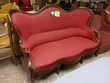 Banquette style Louis Philippe rouge
