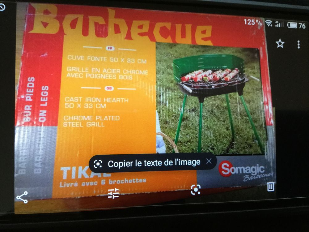 Barbecue fonte 4 pieds neuf    50x33    6 broches.      20 € 20 Saint-Paul-des-Landes (15)