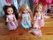 lot de 3 barbie Shelly  princesses