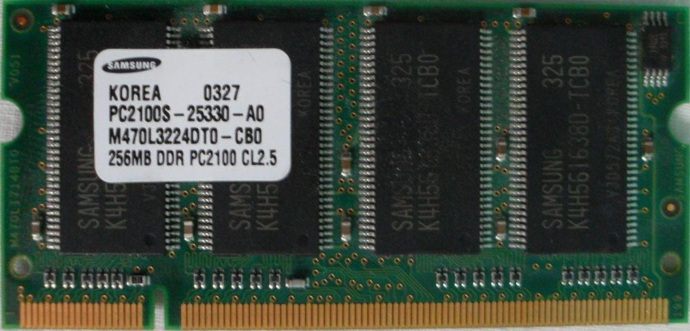 barette memoire samsung 256MB PC2100 2 Versailles (78)