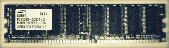 2 barettes memoire pc bureau 512MB DDR PC3200U 6 Versailles (78)