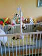 lit a barreaux blanc avec matelas bonne etat plus tourniquet Mobilier enfants