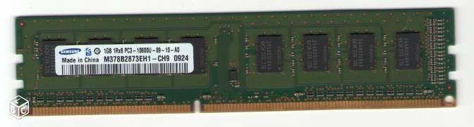 Barrette Mémoire SAMSUNG DDR3 1Go PC3-10600 7 Savigny-sur-Orge (91)
