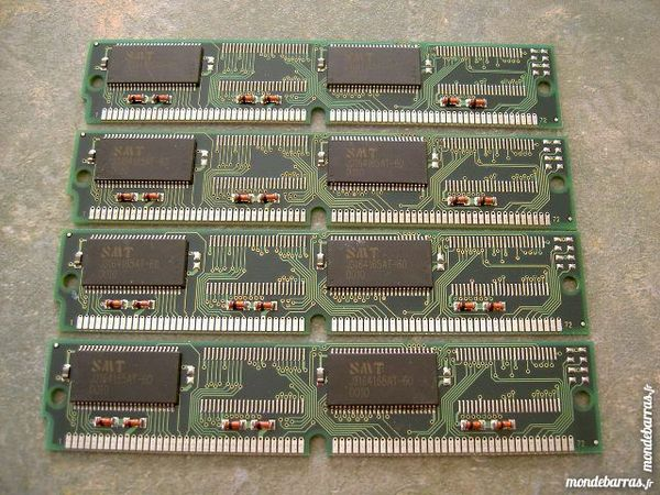 4 barrettes de 16MB RAM EDO 72 pins. 10 Fournet-Blancheroche (25)